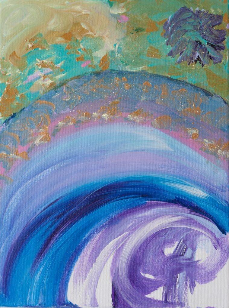 'Hemels', acryl op doek, 30 x 40 cm, € 125,00