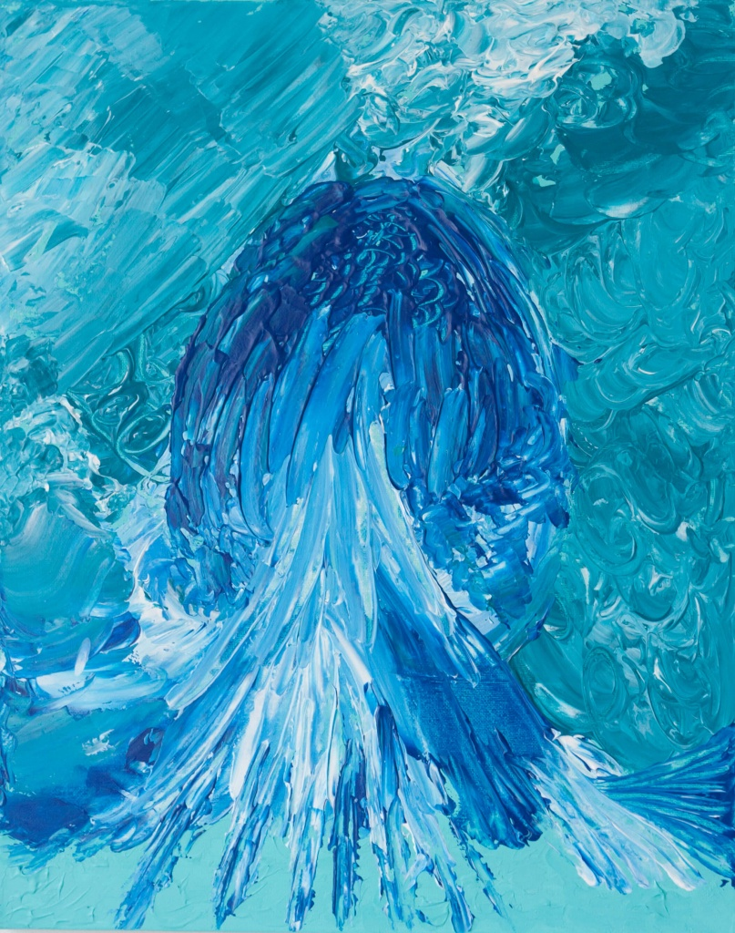 'Atlantis', acryl op doek, 40 x 50 cm, € 125,00
