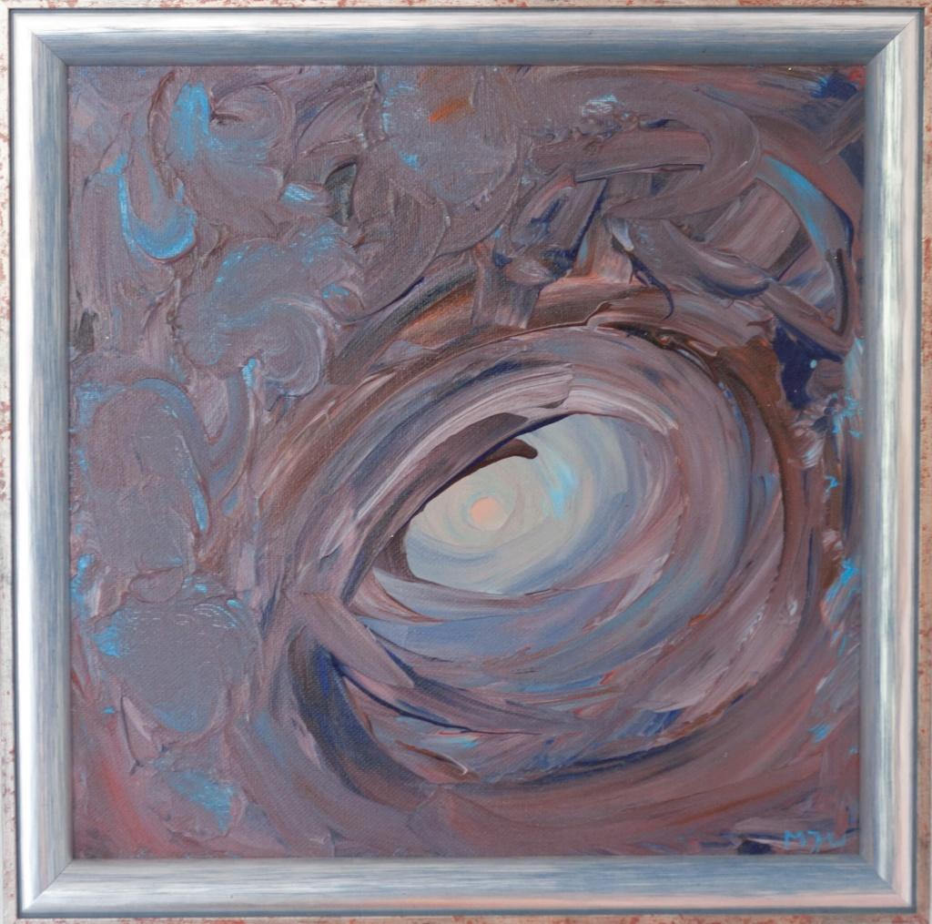 'Chakra', acryl op doek, ingelijst 34 x 34 cm, € 275,00